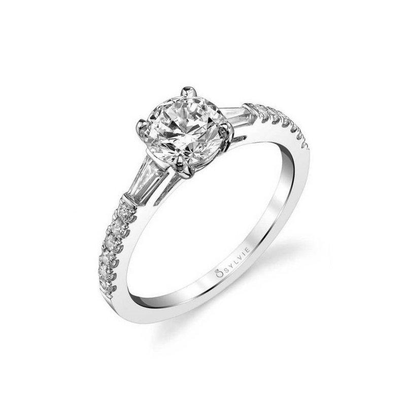 Lasker Bridal Baguette Diamond Engagement Ring