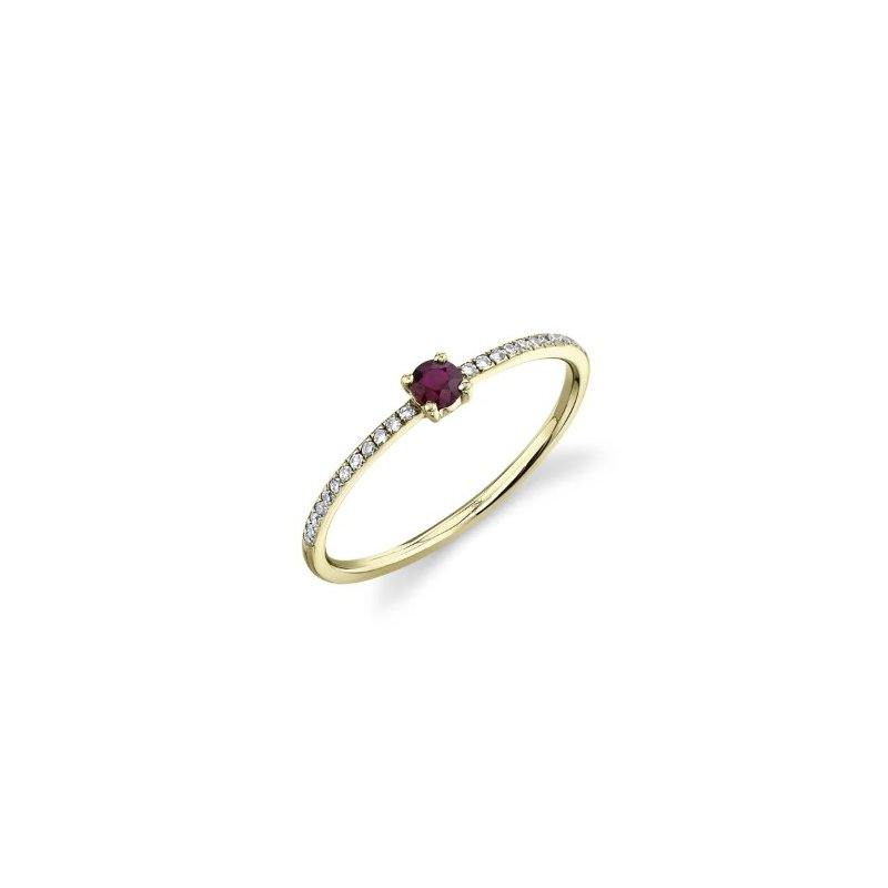 Lasker Gemstone Dainty Ruby Ring
