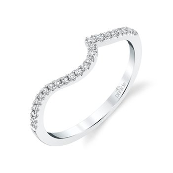 Curved Matching Diamond Band