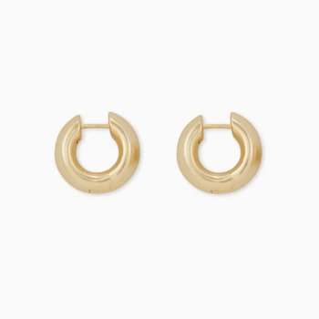 Mikki Huggie Earrings In Yellow