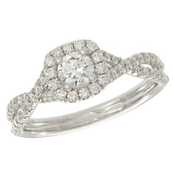 Weave Halo Ring
