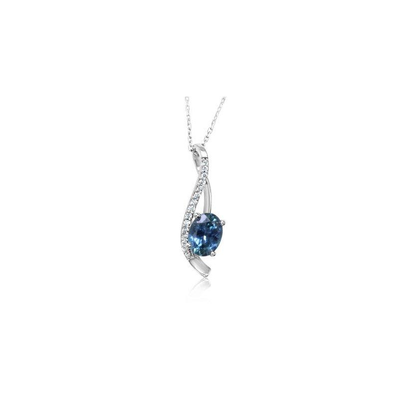 Lasker Gemstone Montana Sapphire Pendant