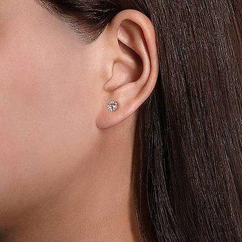 Morganite & Diamond Halo Earrings