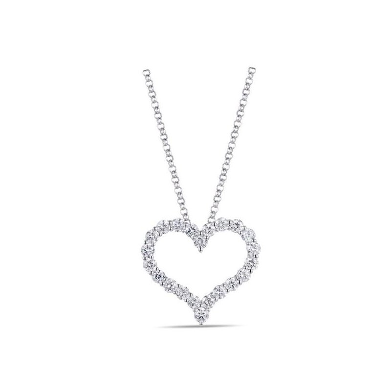Lasker Diamond Fashion Open Heart Diamond Pendant