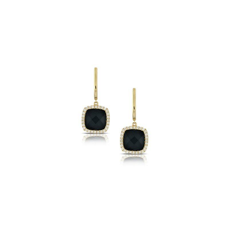 Lasker Gemstone Black Onyx Gatsby Earrings