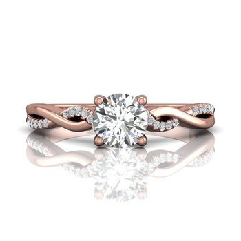 Twisted Engagement Ring Mounting