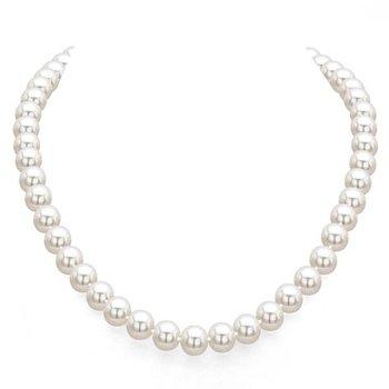 "Single Strand Cultured Akoya Pearls - 18"""
