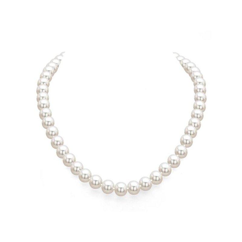 "Lasker Pearl Fashion Single Strand Cultured Akoya Pearls - 18"""