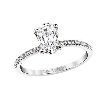 Simply Petite Ring - 0.70CT Oval