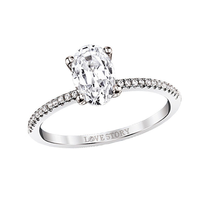 Lasker Bridal Simply Petite Ring - 0.70CT Oval