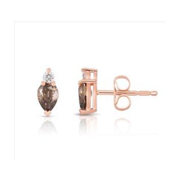 Cognac Diamond Earrings