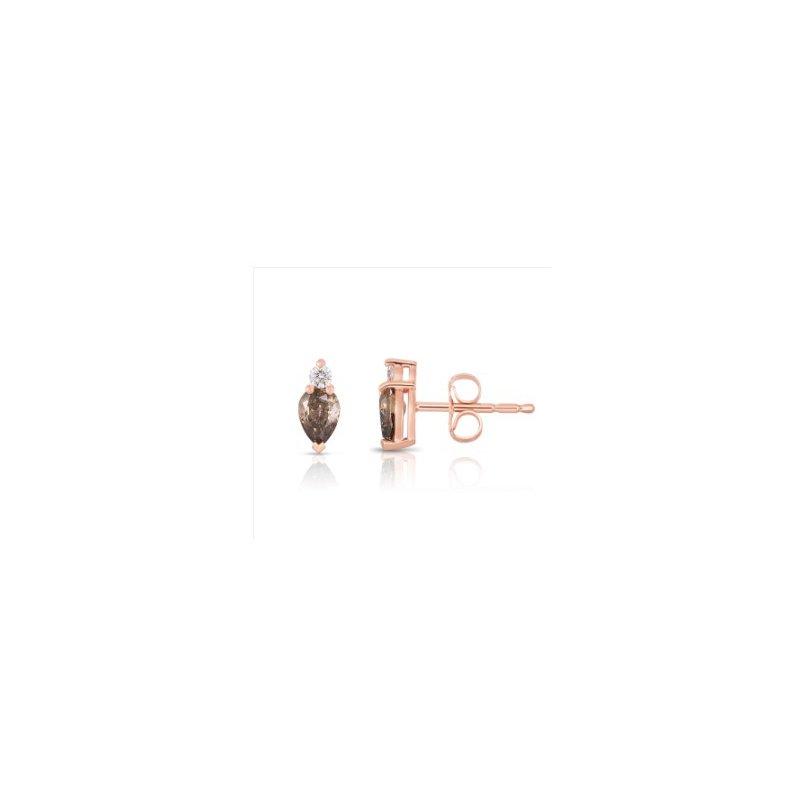 Lasker Diamond Fashion Cognac Diamond Earrings
