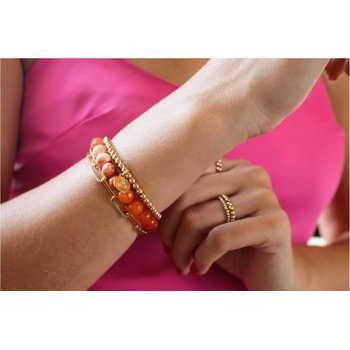 Orange Ombre Bracelet Stack