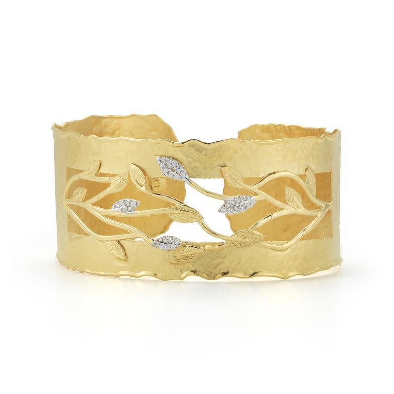 Lasker Gold Fashion Vine Cuff Bracelet