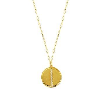 Polished Diamond Medallion Pendant
