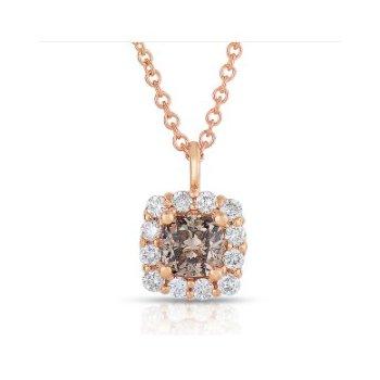 Center Of my World Cognac Diamond Pendant