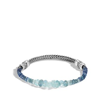 Classic Chain and Aquamarine Bracelet