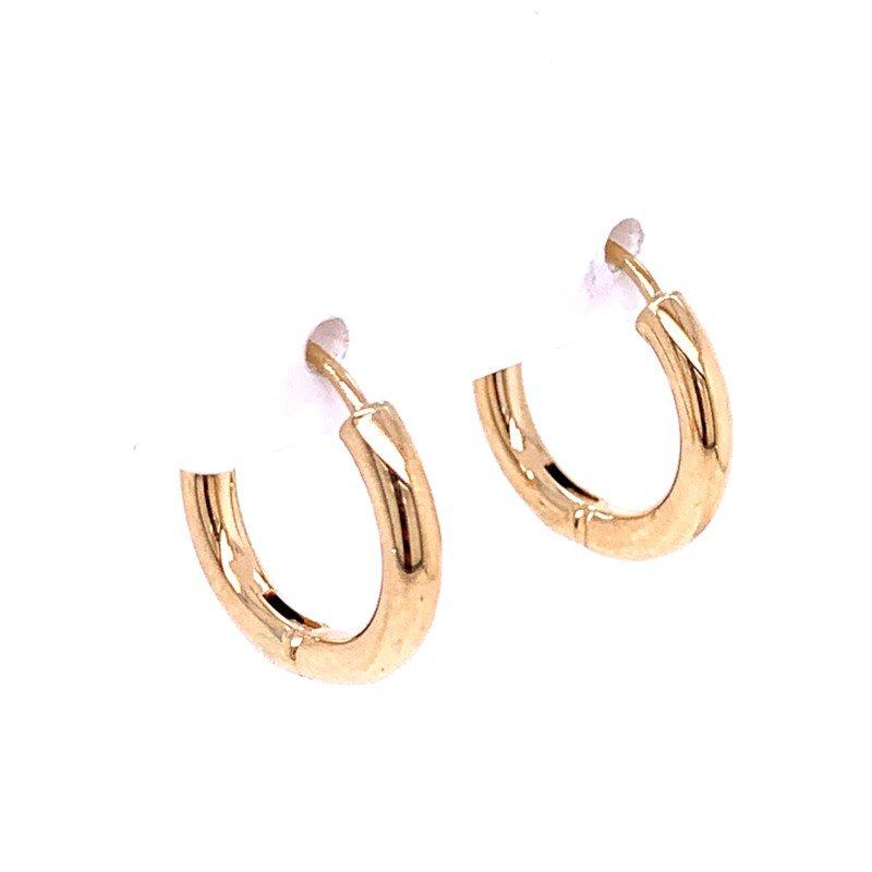 Lasker Gold Fashion 16mm Hinged Hoops