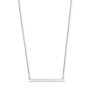 Kelsey Pendant Necklace In Bright Silver