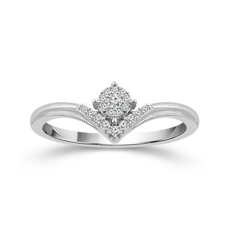 Lasker Diamond Fashion Chevron Promise Ring