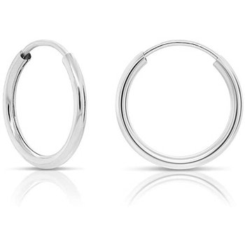 Rounded Hoop Earrings 26MM