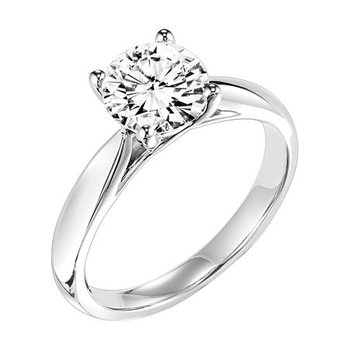 2.6mm Tapered Trellis Solitaire Mounting - 1ct