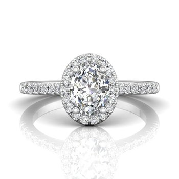 Classic Micropave Oval Halo