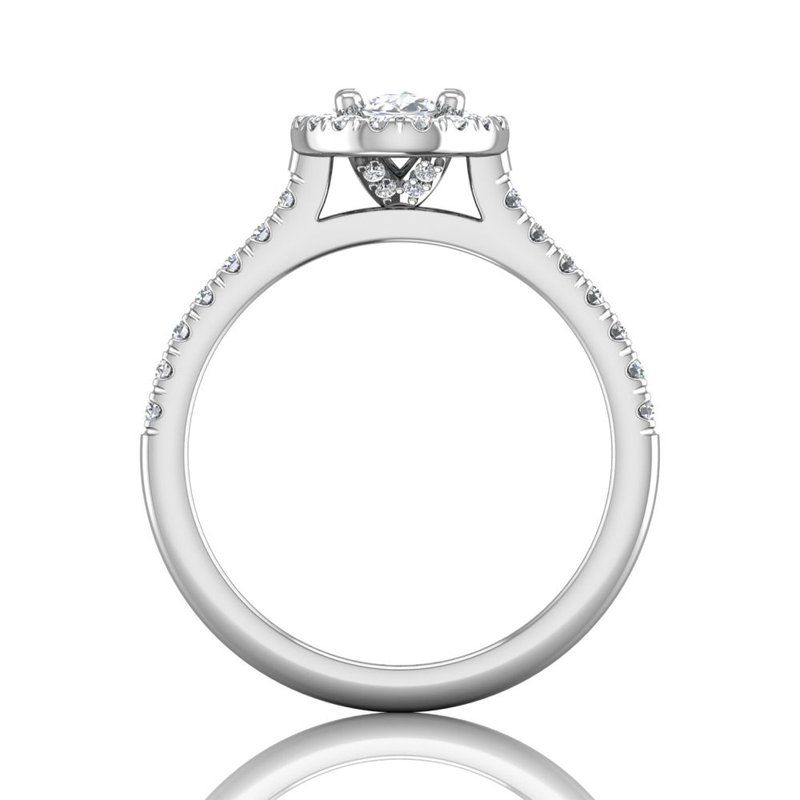 Martin Flyer Classic Micropave Oval Halo