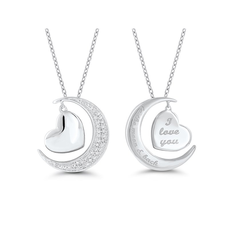 Lasker Signature I Love You To The Moon and Back Pendant