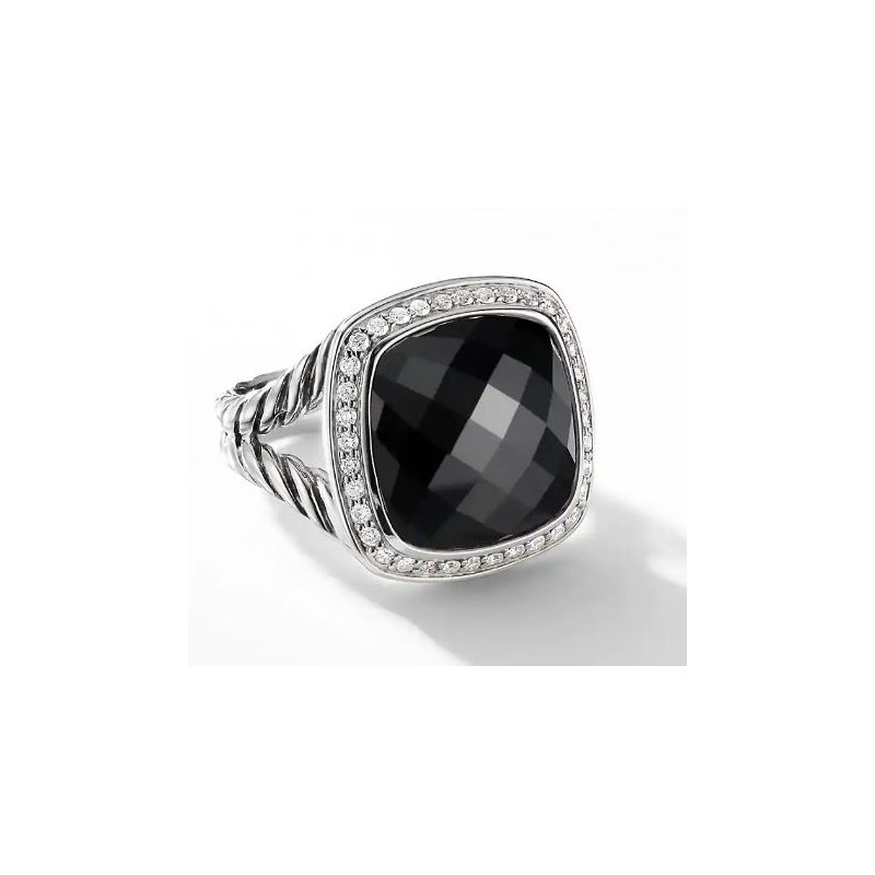 Lasker Gemstone Albion Ring with Black Onyx