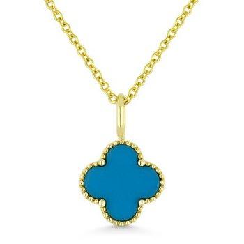 Turquoise Granada Floral Pendant