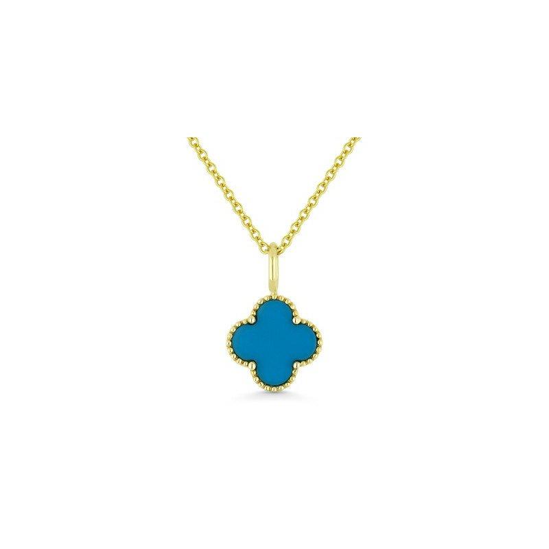 Lasker Gemstone Turquoise Granada Floral Pendant