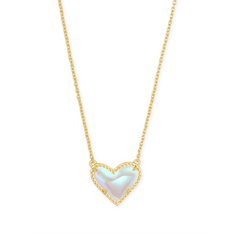 Kendra Scott Ari Heart in Dichroic Glass