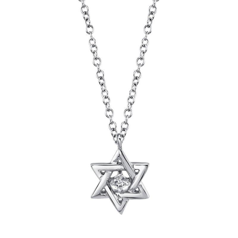 Lasker Diamond Fashion Star of David Necklace