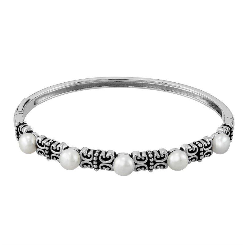 Lasker Pearl Fashion Pearl Bangle Bracelet
