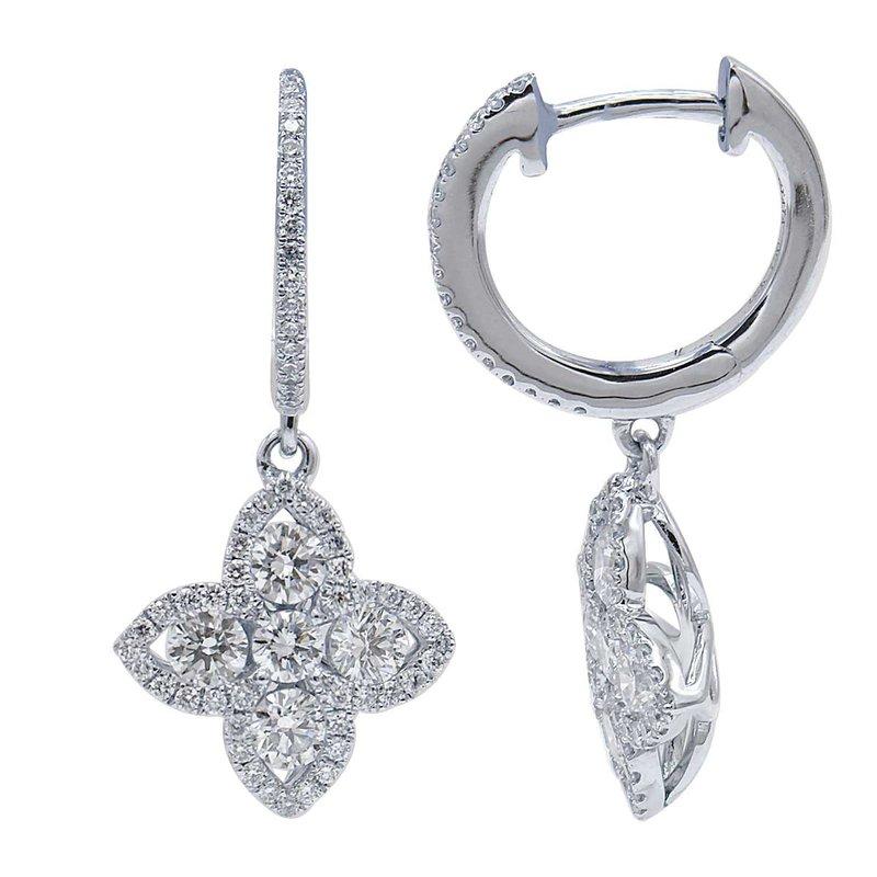 Lasker Diamond Fashion Flower Power Drop Earrings