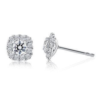 Fire & Ice Cassiopeia Stud Earrings - 1cttw