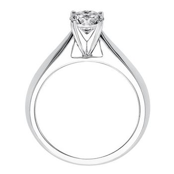 Tapered Solitaire Ring