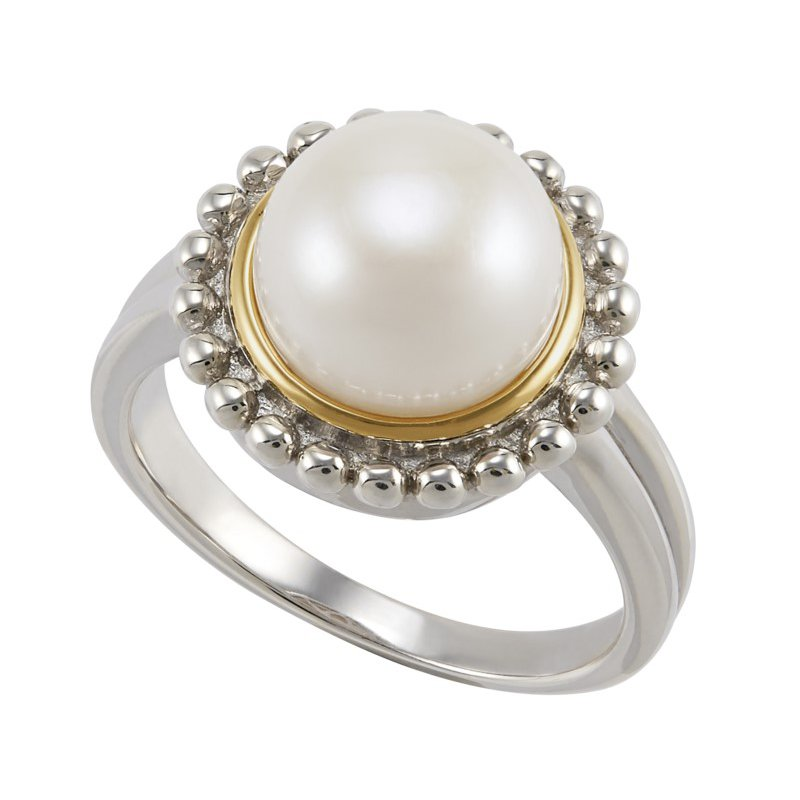 Lasker Pearl Fashion Palline' Button Pearl Ring