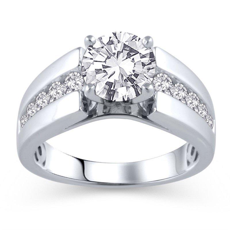 Lasker Bridal Wide Channel Set Ring Mounting