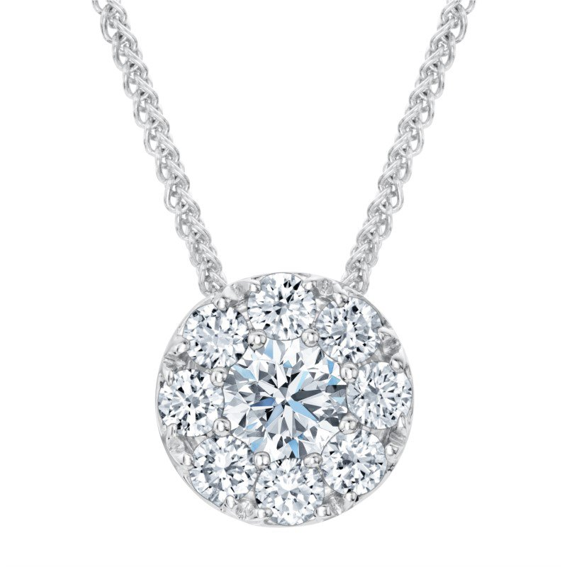 Lasker Diamond Fashion FOREVERMARK ETERNAL HALO PENDANT .30CTTW