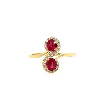 You and Me Ruby Ring