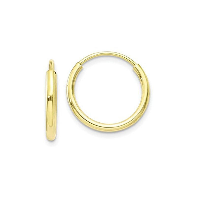 Lasker Gold Fashion Rounded Huggie Earrings