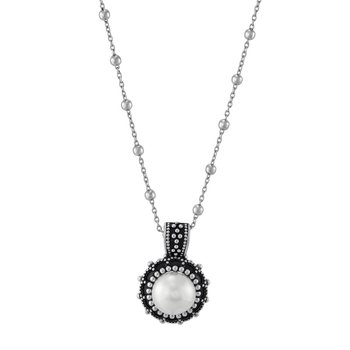 Button Pearl Bead Pendant