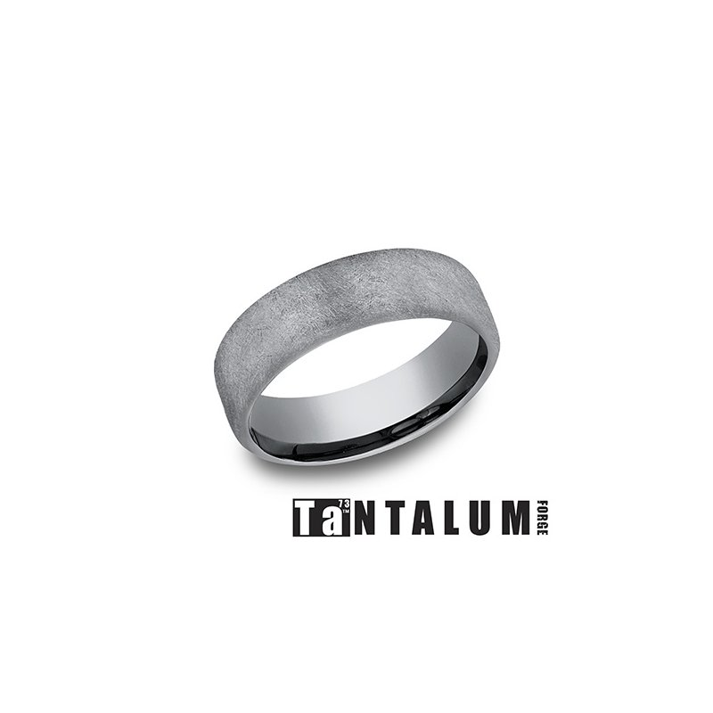 Lasker Men's 6.5mm Tantalum Band - Wire Finish