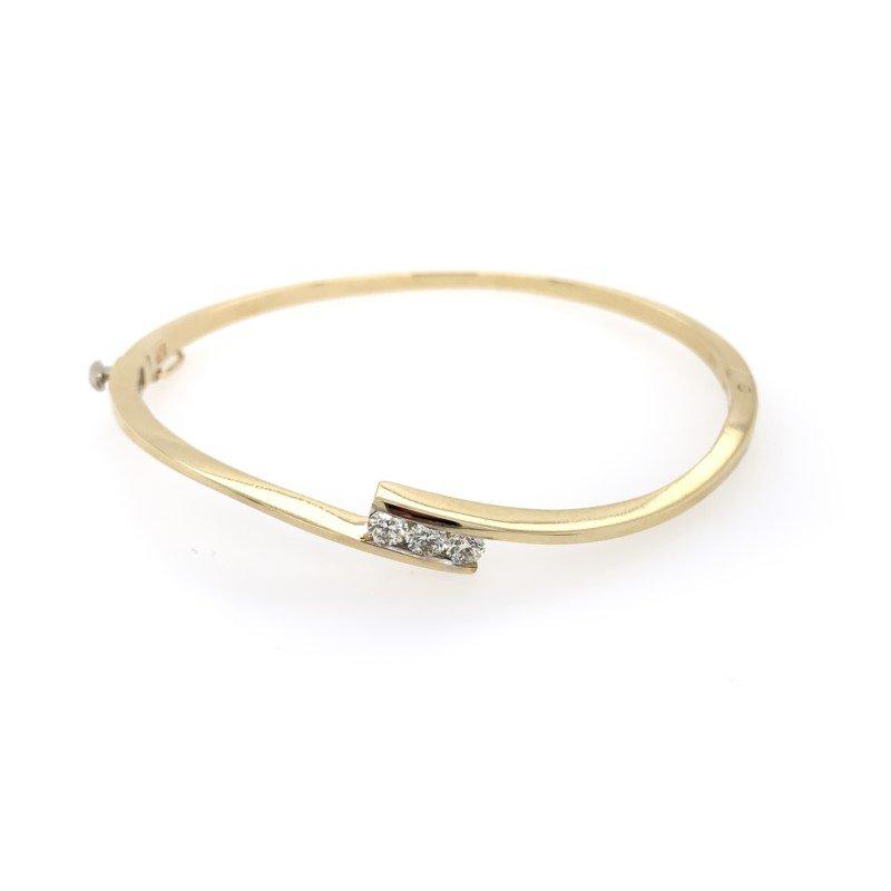 Lasker Diamond Fashion Bypass Bangle Bracelet
