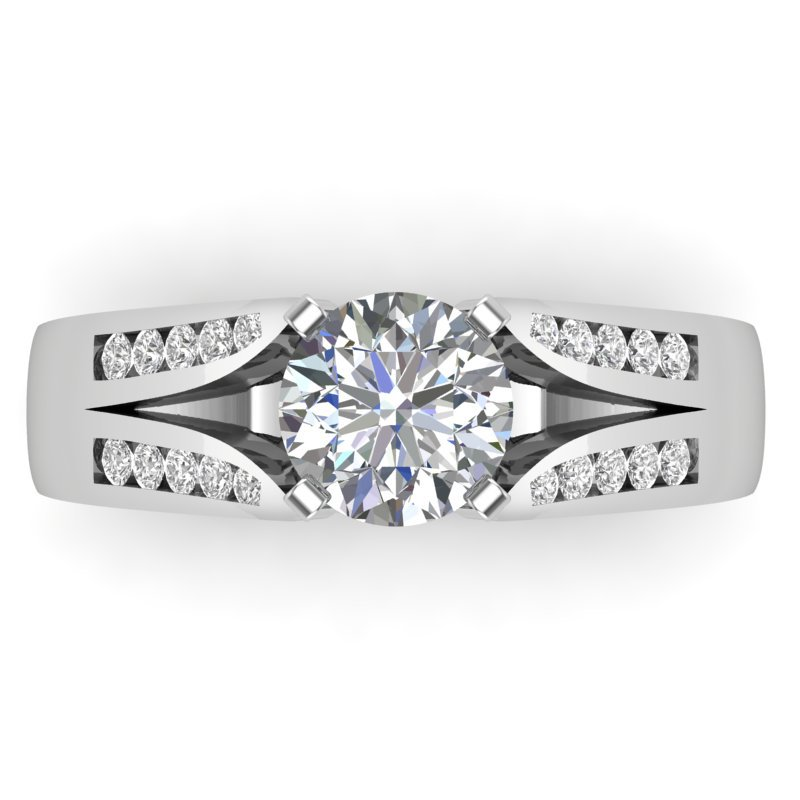 Lasker Bridal Dovetail Cathedral Ring Mounting