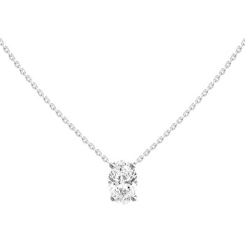Dancing on Air Oval Diamond Pendant