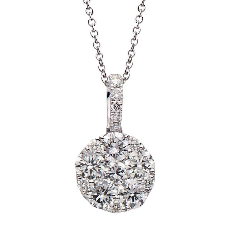 Lasker Diamond Fashion Round Illusion Pendant