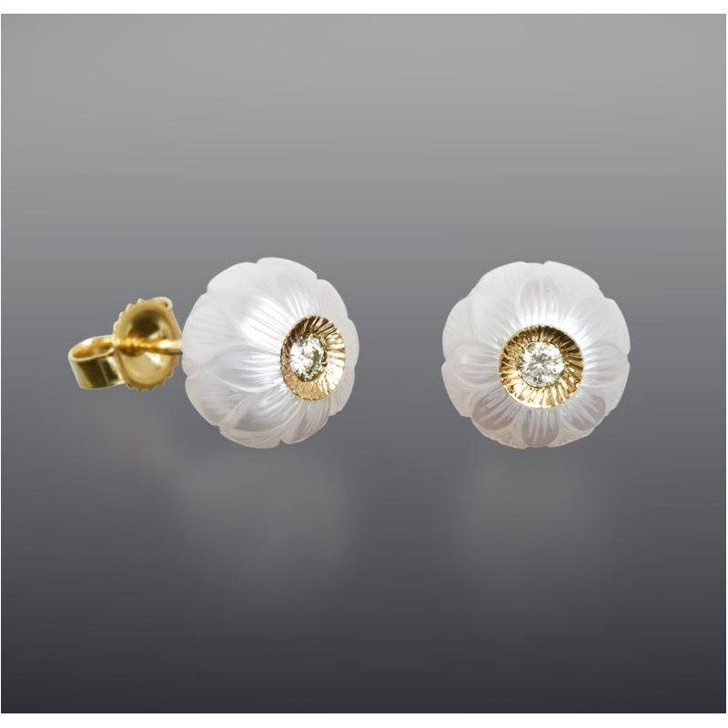 Lasker Pearl Fashion Lucky Daisy Earrings
